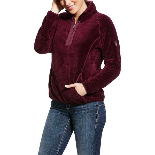 Ariat - Dulcet 1/2 Zip Sweatshirt - Grapewine - Quail Hollow Tack