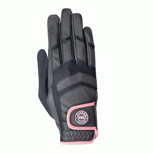 KL Select - Palma Riding Glove - Pink/Black - Quail Hollow Tack