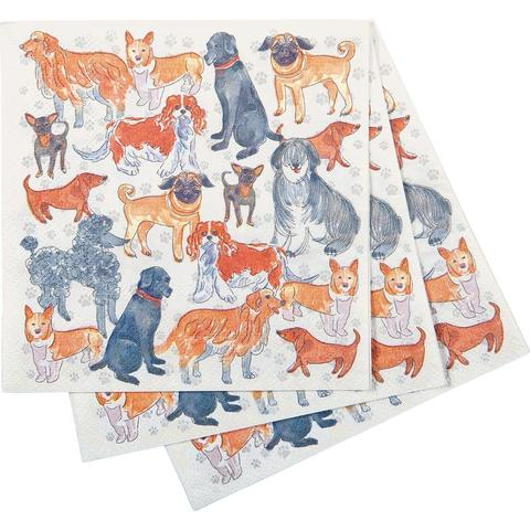 Rock Flower Paper - Dogville Cocktail Napkin - Quail Hollow Tack