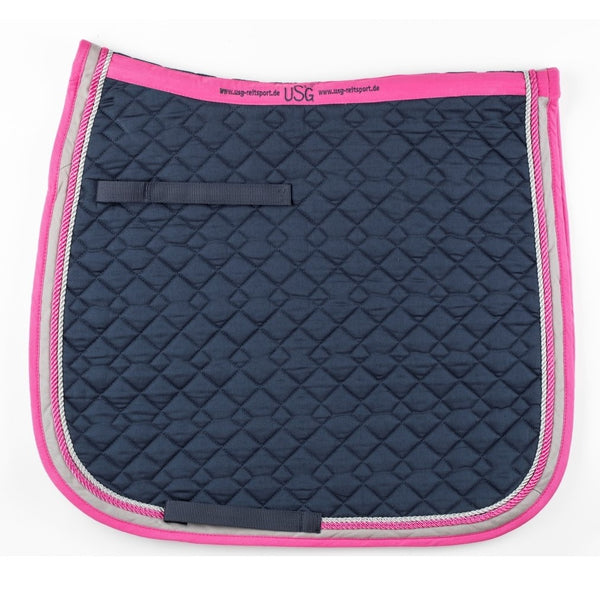 KL Select - General Purpose Saddle Pad - Navy, Pink, & Beige - Quail Hollow Tack