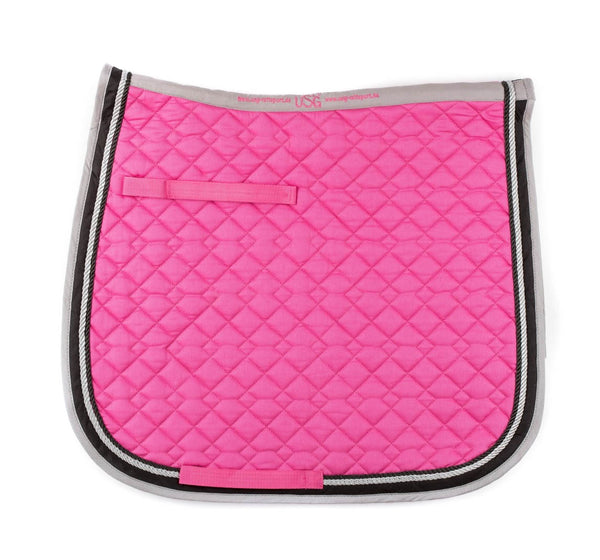 KL Select - General Purpose Saddle Pad - Pink, Grey, & Black - Quail Hollow Tack