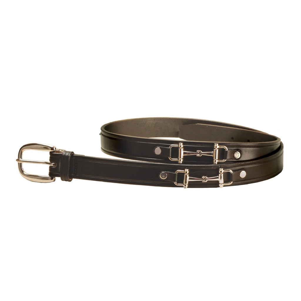 Tory Leather - Belt with Snaffle Bits - Quail Hollow Tack