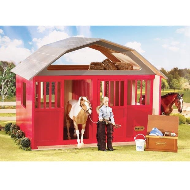 Breyer - Two-Stall Barn - Traditional - Quail Hollow Tack