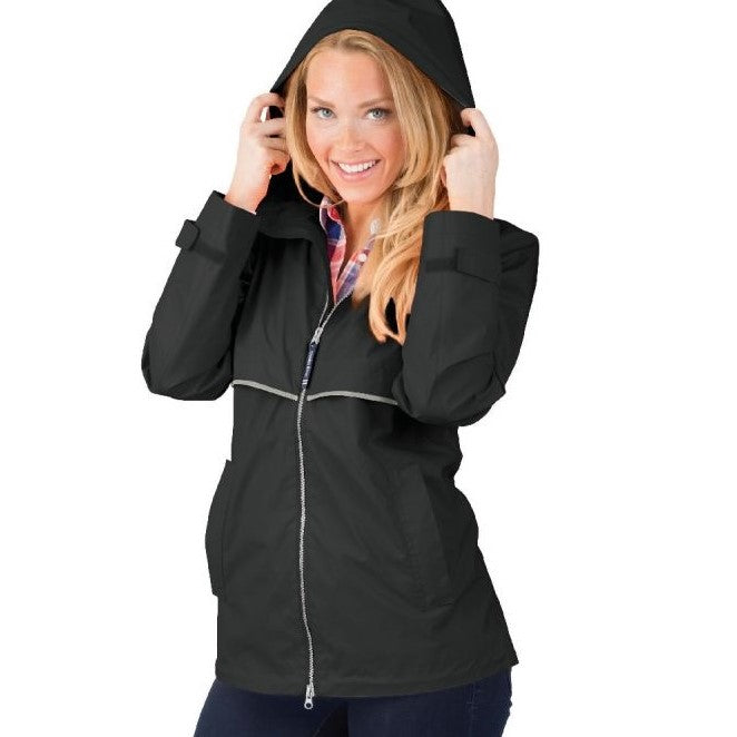 Ladies New Englander Rain Jacket - Black