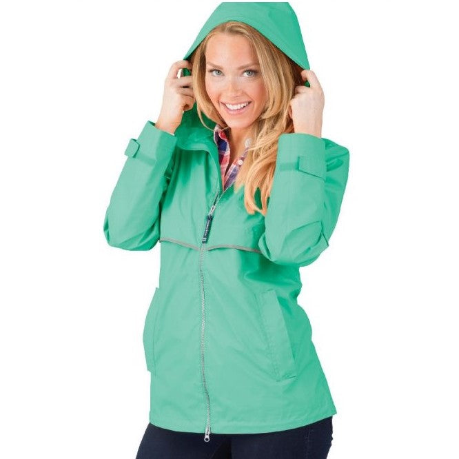 Charles River Apparel - Ladies New Englander Rain Jacket - Mint - Quail Hollow Tack
