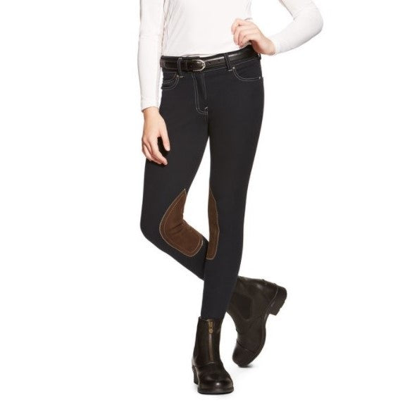 Ariat - Girls Knit Denim Front Zip Breech - Quail Hollow Tack