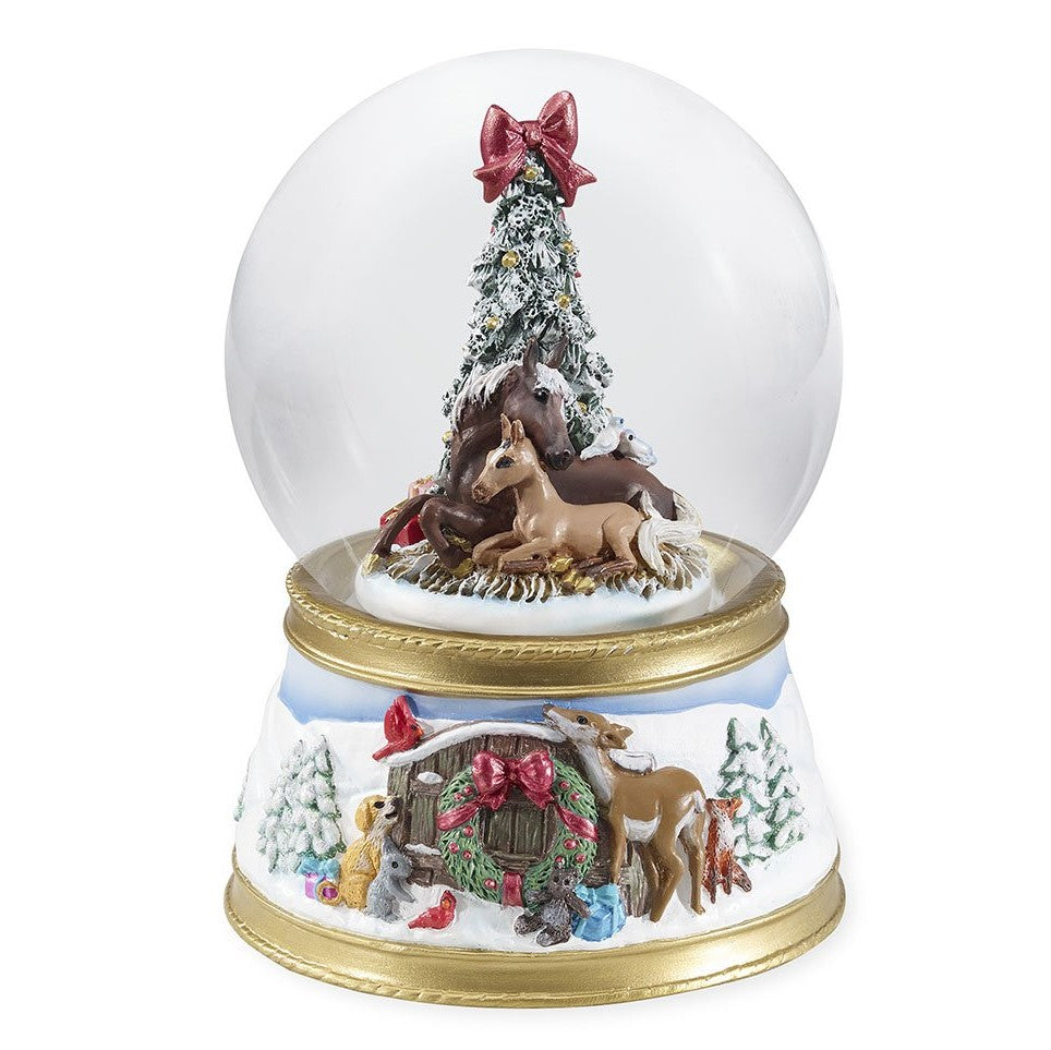 Breyer - 2018 Musical Snow Globe - The Gift of Love - Quail Hollow Tack