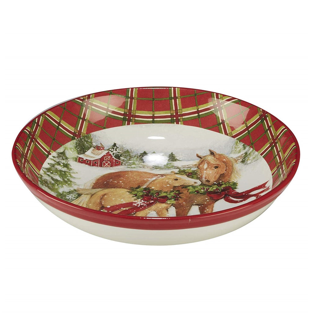 Certified International - Christmas on the Farm - Pasta Bowl - Quail Hollow Tack