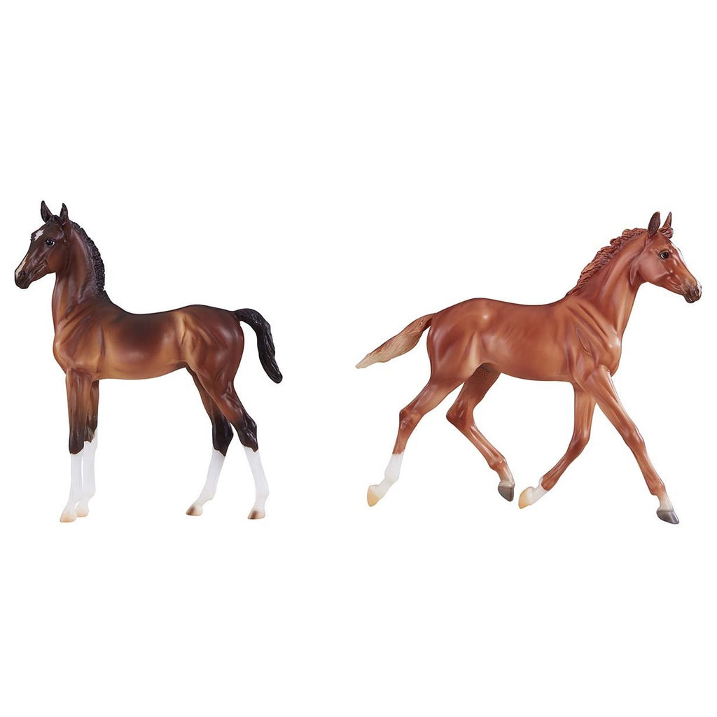 Breyer - Best of British Foal Set - Thoroughbred & Hackney - Traditional - Quail Hollow Tack