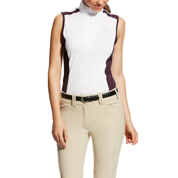 Ladies Aptos Show Shirt - Plum Colorblock