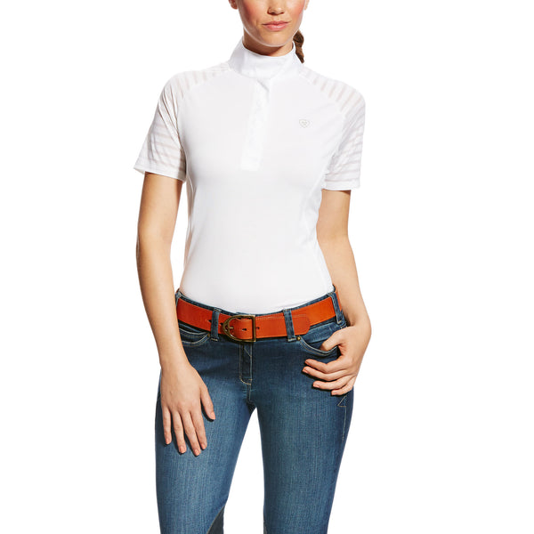 Ariat - Ladies Aptos Vent Show Shirt - White - Quail Hollow Tack