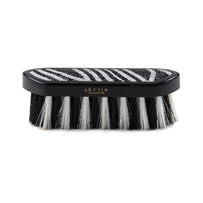 Lettia - Black & White Crystal Zebra Design Brushes - Quail Hollow Tack