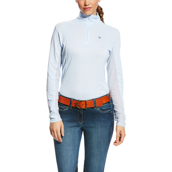 Ariat - Ladies Sunstopper 1/4 Zip - Blue Cloud - Quail Hollow Tack