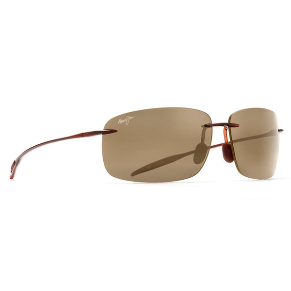 Breakwall Rimless Polarized Sunglasses - Rootbeer