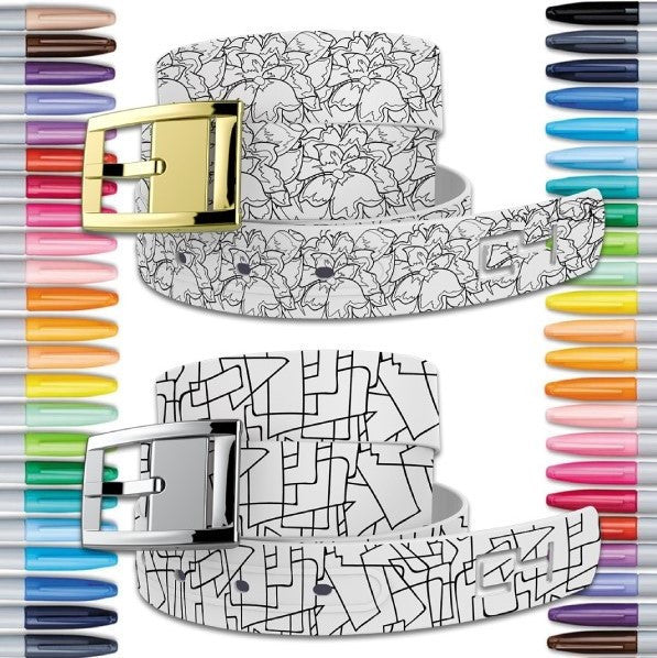 C4 Coloring Book Belt Shapes and Flowers