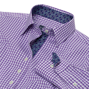 Essex Classics - Dora Woven Shirt - Purple Check - Quail Hollow Tack