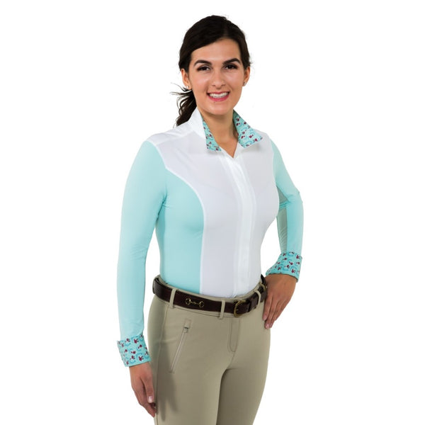 Catherine Show Shirt zip long sleeve