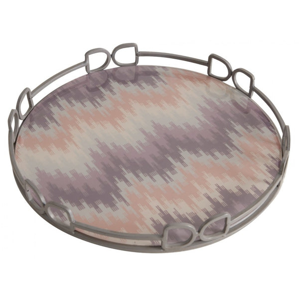 A&B Home - Round Tray With Bits - Quail Hollow Tack