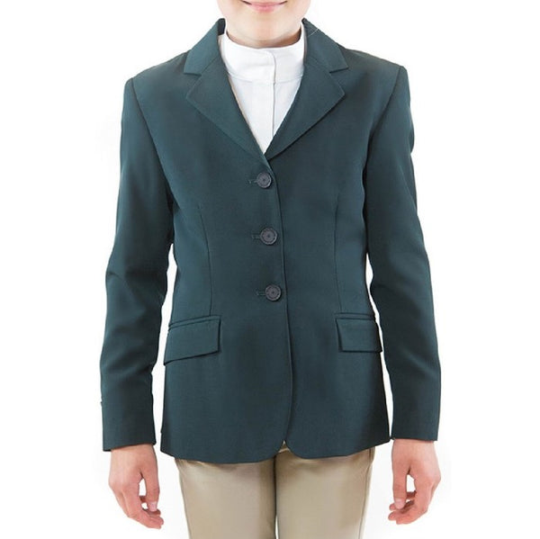 RJ Classics - Girls Ellie Hunt Coat - Green - Quail Hollow Tack