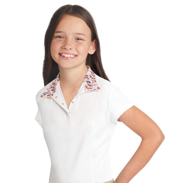 Ovation - Girls Ellie Tech Show Shirt - Short Sleeve - OMG Ponies - Quail Hollow Tack