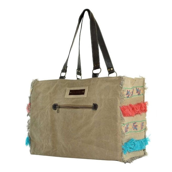 Vintage Addiction - Embroidered Tent Market Tote - Quail Hollow Tack