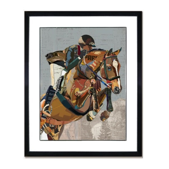 Canterbury Lane - English Rider Collage Art - Quail Hollow Tack