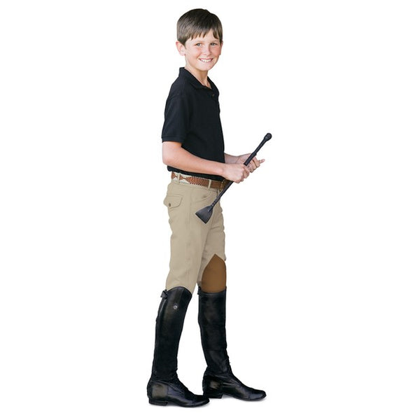 Ovation - Boys 4 Pocket Euroweave Breech - Quail Hollow Tack