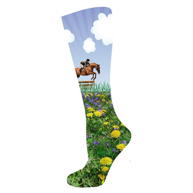 Ink Stables - Boot Sock - Floral Jump - Quail Hollow Tack