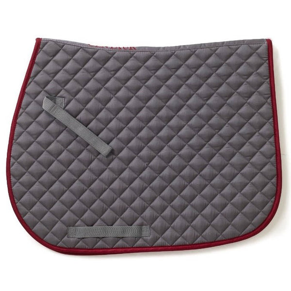 Imperial Saddle Pad - Gray/Burgundy