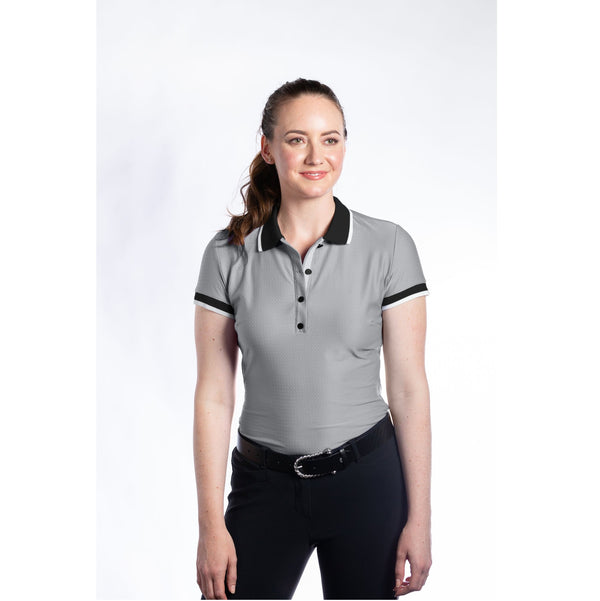 Hannah Childs - Kaley Short Sleeve Polo - Cool Mist - Quail Hollow Tack