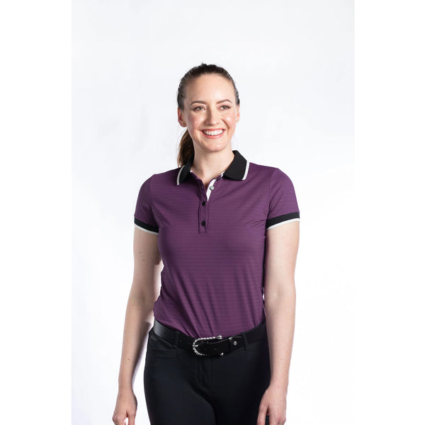 Hannah Childs - Kaley Short Sleeve Polo - Aubregine - Quail Hollow Tack