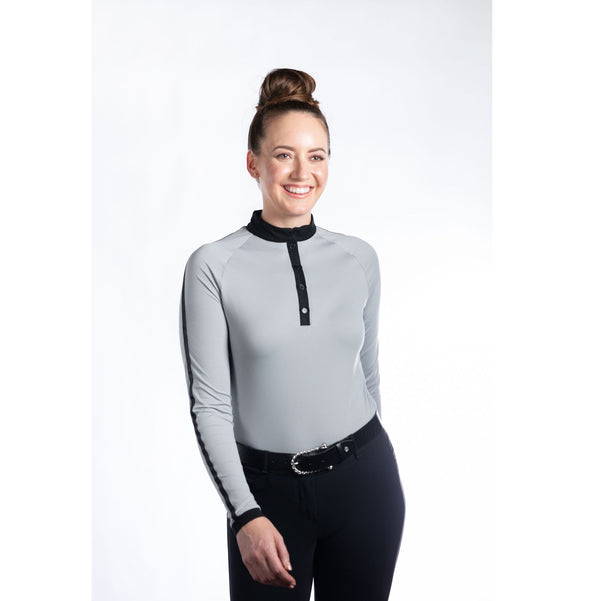 Hannah Childs - Kami Long Sleeve Top - Cool Mist - Quail Hollow Tack