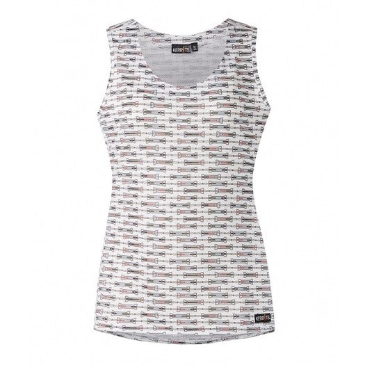 Ladies Ice Fil Tank - White