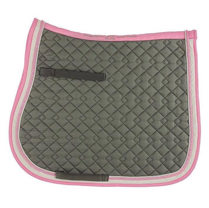 KL Select - General Purpose Saddle Pad - Grey & Rose - Quail Hollow Tack