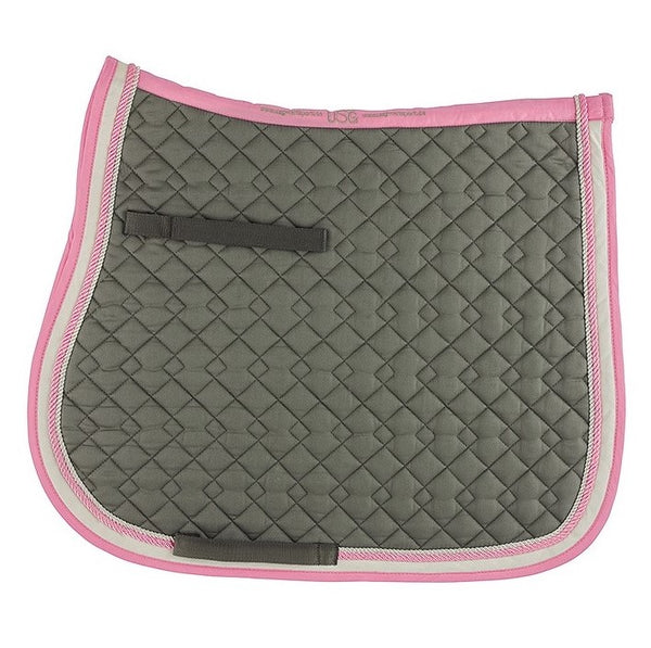 General Purpose Saddle Pad - Grey & Rose