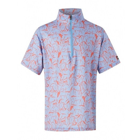 Kerrits - Girls Ice Fil Short Sleeve Shirt - Bluebell - Quail Hollow Tack