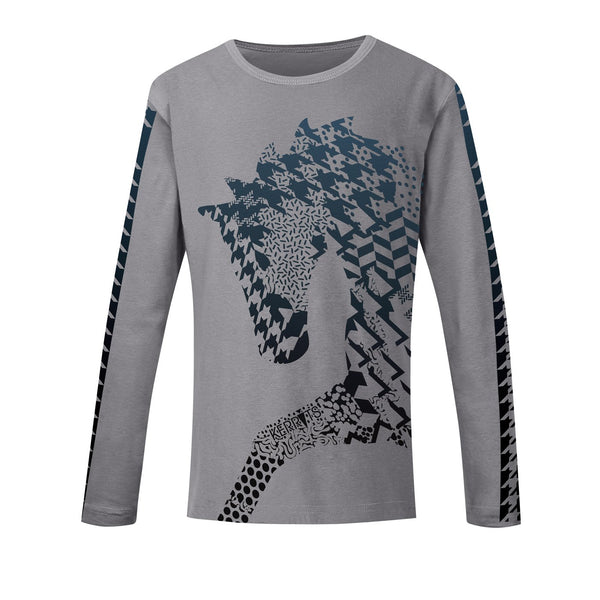 Kerrits - Girls Nordic Long Sleeve Tee - Charcoal - Quail Hollow Tack