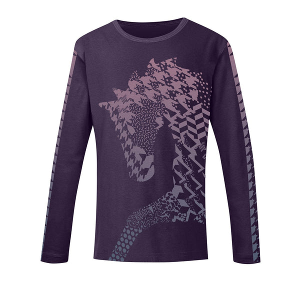 Kerrits - Girls Nordic Long Sleeve Tee - Eggplant - Quail Hollow Tack