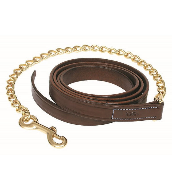 "Walsh - Leather Lead With 24"" Chain - Quail Hollow Tack"