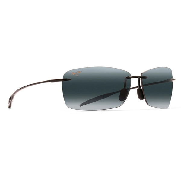 Lighthouse Polarized Rimless Sunglasses - Gloss Black