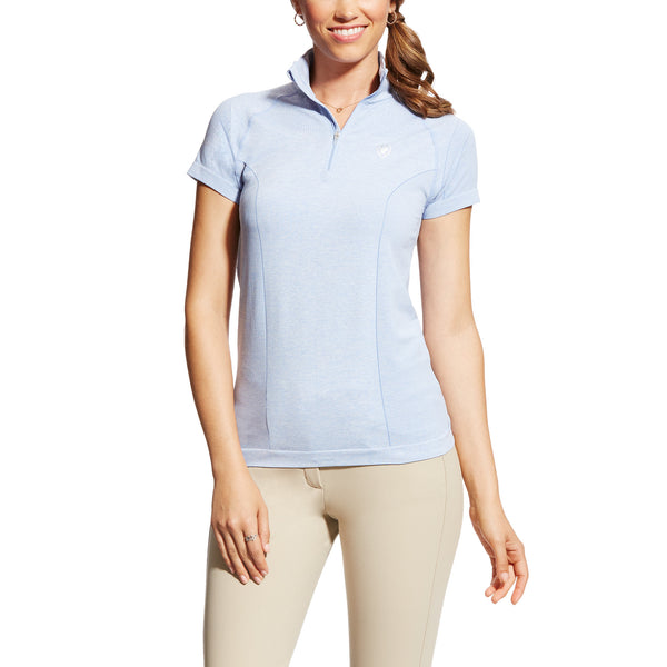 Odyssey 1/4 Zip Short Sleeve - Blue Heather
