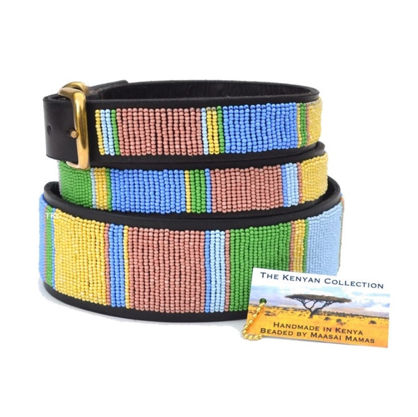 The Kenyan Collection - Beaded Dog Collar - Pastels - Quail Hollow Tack