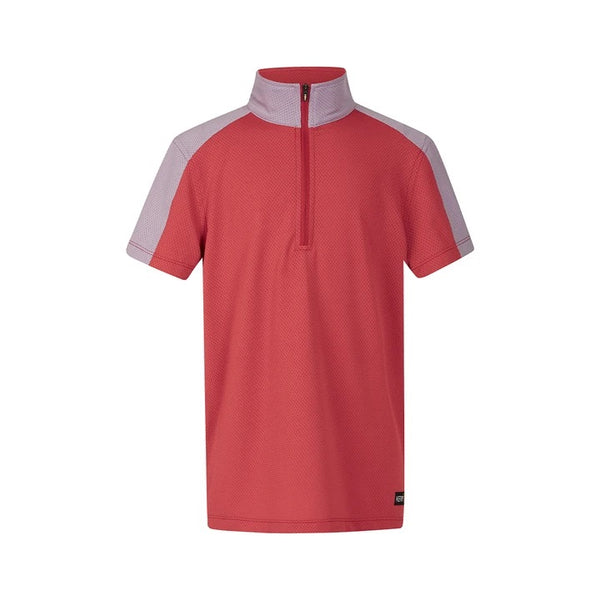 Kerrits - Kids Ice Fil Lite Short Sleeve Riding Shirt - Poppy 2 Tone - Quail Hollow Tack