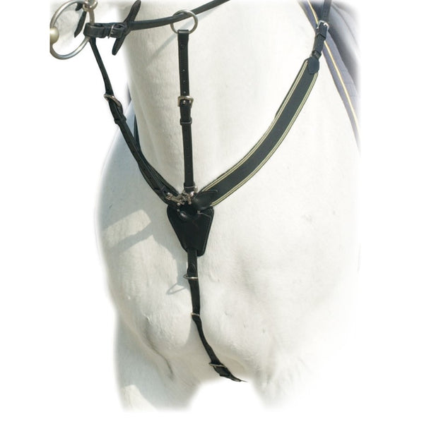 Prestige Italy - Elastic Breastplate with Running Attachment - Quail Hollow Tack