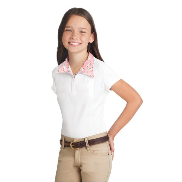 Girls Sarah Short Sleeve Show Shirt - Unicorn