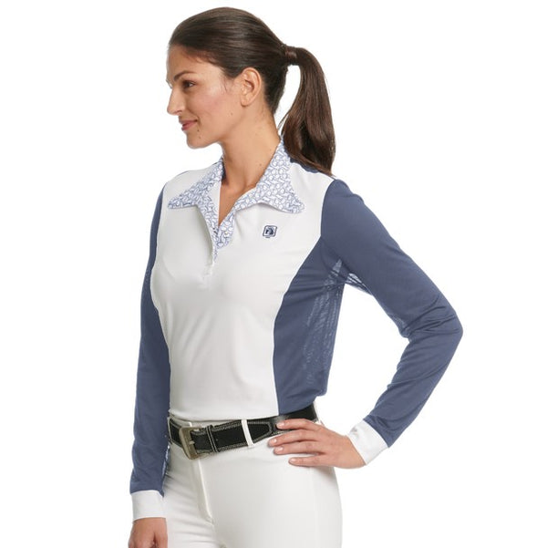 Romfh - Ladies Signature Magnetic Long Sleeve Show Shirt - Quail Hollow Tack
