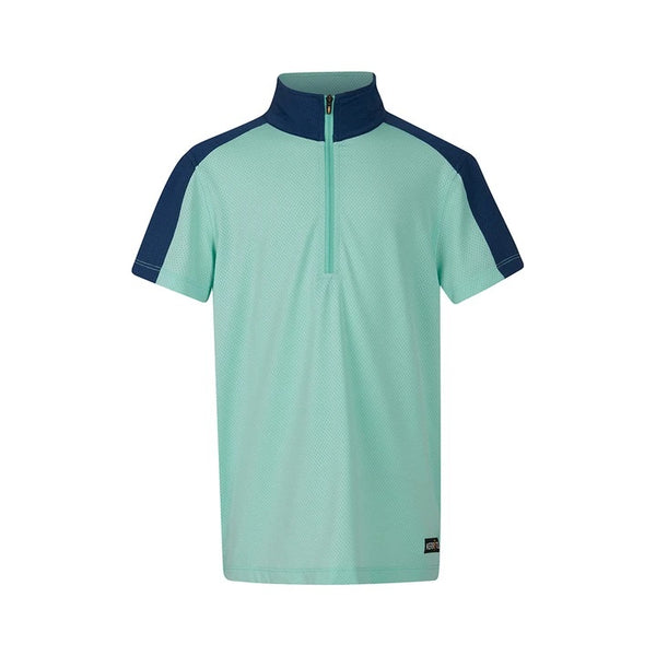 Kerrits - Kids Ice Fil Lite Short Sleeve Riding Shirt - Spearmint 2 Tone - Quail Hollow Tack