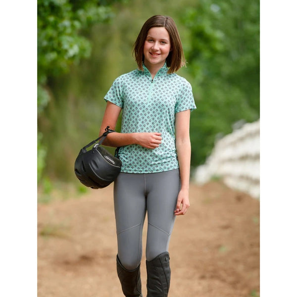 Kerrits - Kids Ice Fil Lite Short Sleeve Riding Shirt - Pinwheel Horse - Quail Hollow Tack