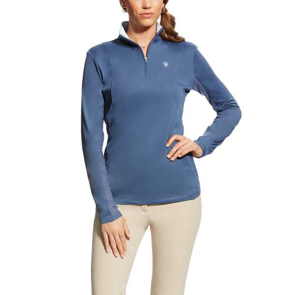 Ariat - Ladies Sunstopper 1/4 Zip - Flint - Quail Hollow Tack