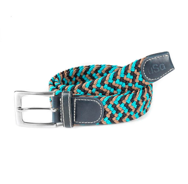 KL Select - Stretch Belt - Turquoise Multi - Quail Hollow Tack